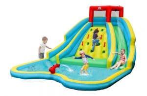 COSTWAY Inflatable Double Water Slide