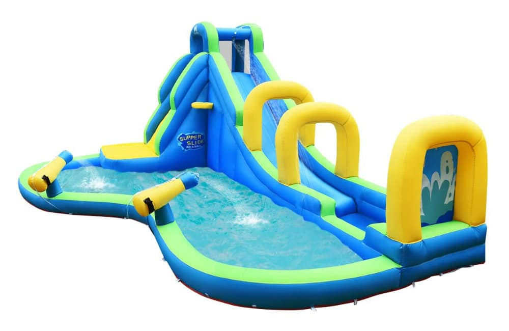 COSTWAY Inflatable Water Slide and Activity Centre